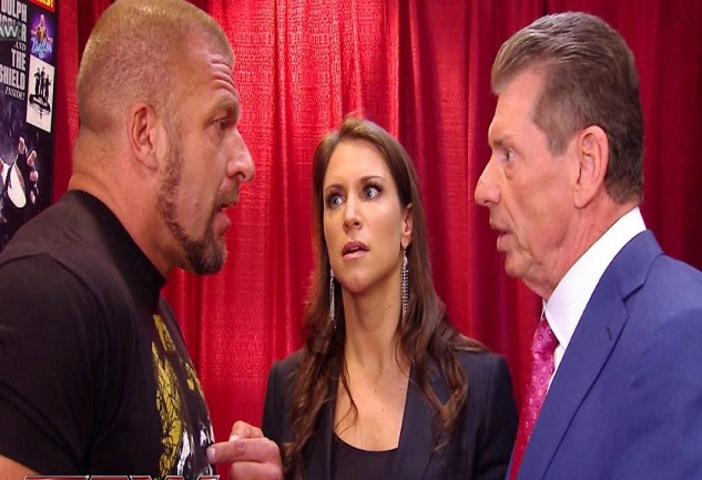 Vince McMahon, Triple H and Stephanie McMahon
