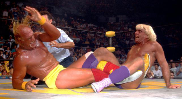 WCW Wrestlers Ric Flair vs Hulk Hogan