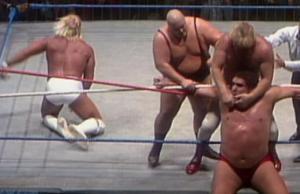 Hulk Hogan and Andre the Giant vs. King Kong Bundy and Big John Studd