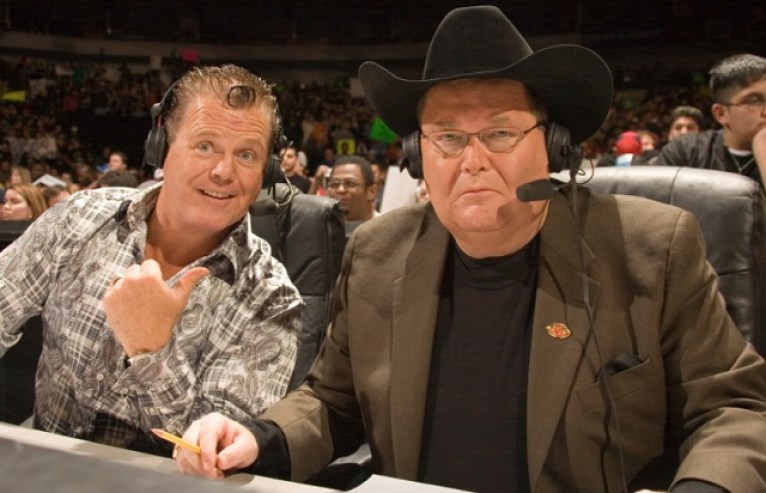 Jim Ross with Jerry Lawler