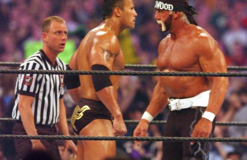 Hulk Hogan and The Rock