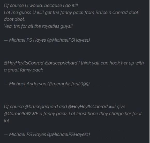 Michael Hayes and Carmella WWE