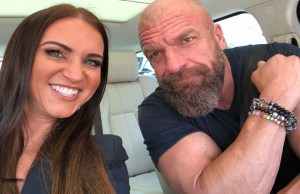 Triple H kisses Stephanie McMahon