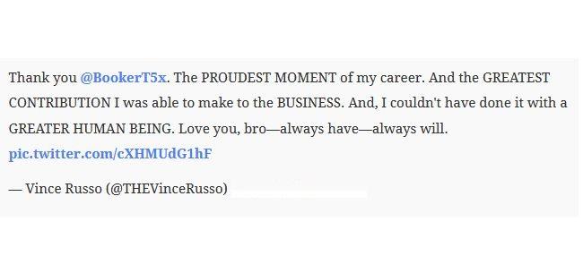 Vince Russo responds