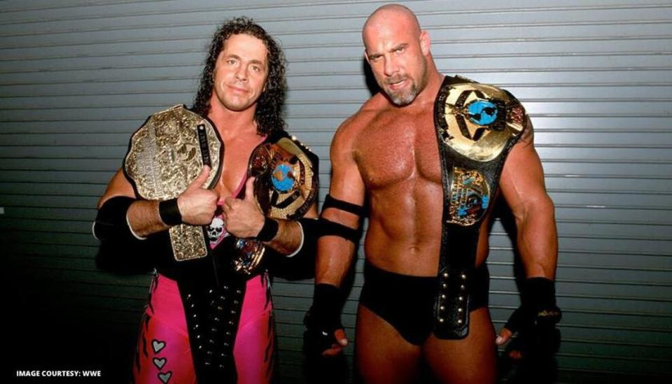 Bill Goldberg and Bret Hart