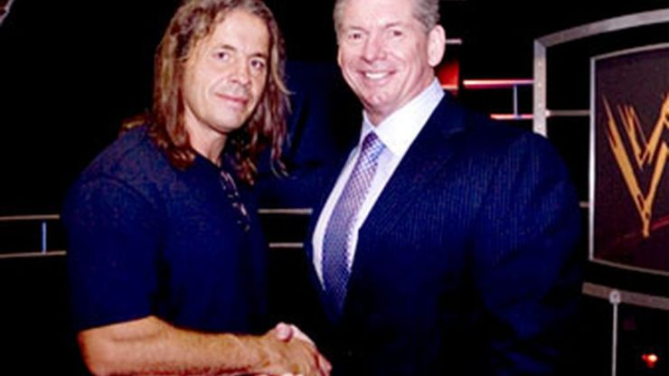 Bret Hart and Vince McMahon