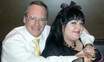 Jim Cornette and wife smile