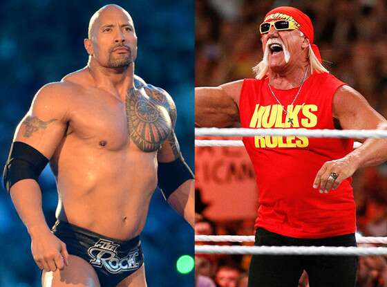 The rock with Hulk Hogan