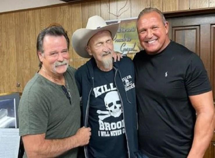 Tim Brooks with friends
