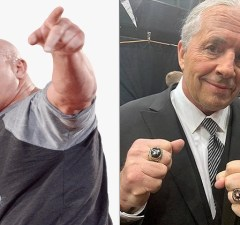 Bill Goldberg and Bret Hart