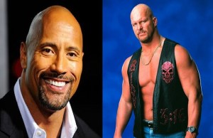 Dwayne Johnson The Rock and Steve Austin Stone Cold