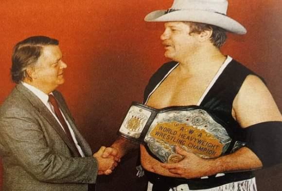Jim Crockett Jr andf AWA HeavyWeight Champion