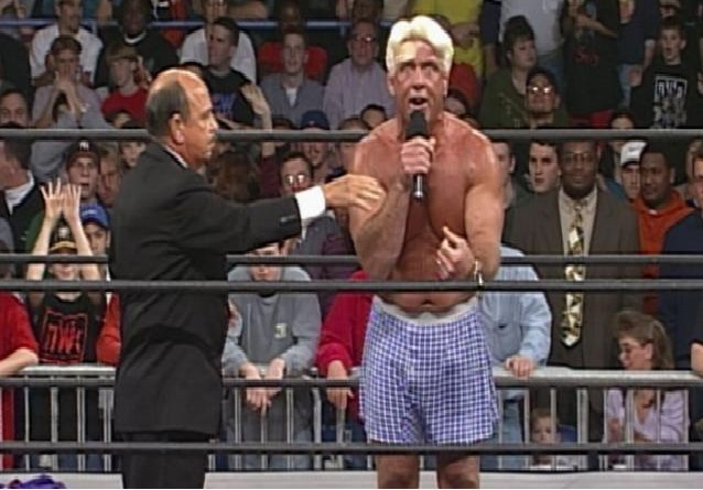 Ric Flair calls out Eric Bischoff