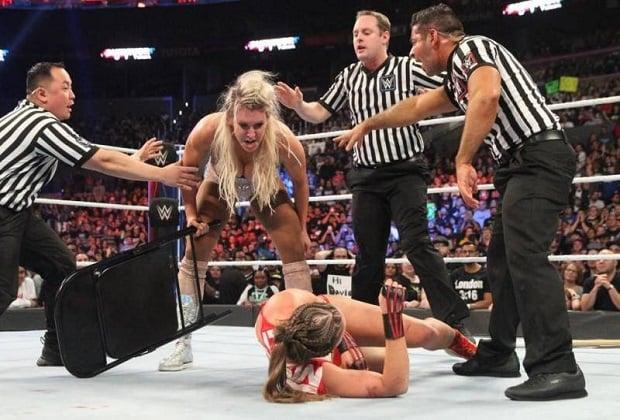 Ronda Rousey vs Charlotte Flair WWE baddest wrestlers