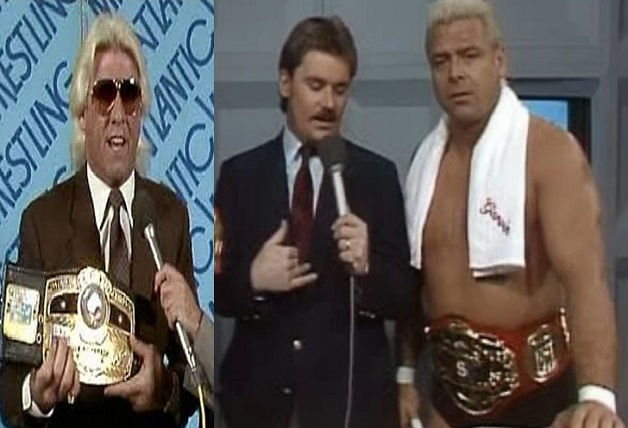 Ronnie Garvin NWA and Ric Flair NWA Title