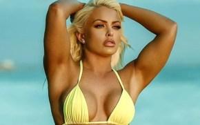Mandy Rose yellow Bikini drop