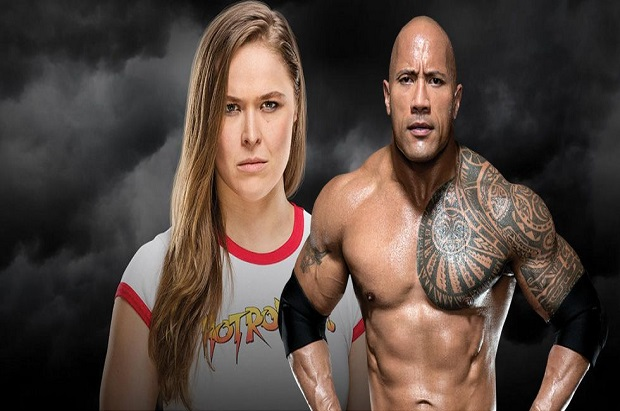 Ronda Rousey and The Rock