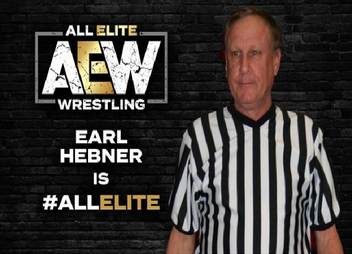 Earl Hebner was signed to an AEW contract