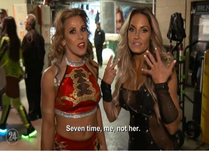Trish Stratus and Mickie James WWE Star