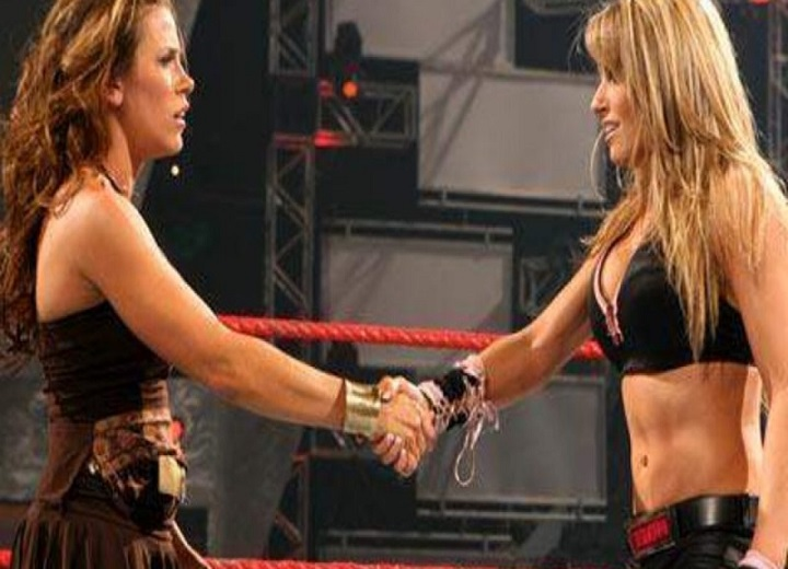 Trish Stratus and Mickie James WWE