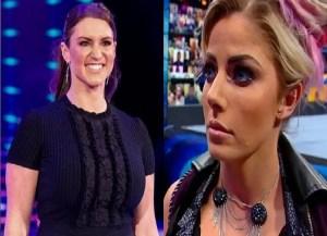 Stephanie McMahon and Alexa Bliss