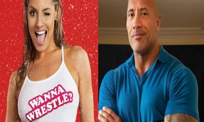The Rock Dwayne Johnson and Trish Stratus 1