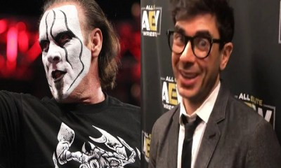 Sting and Tony Khan AEW