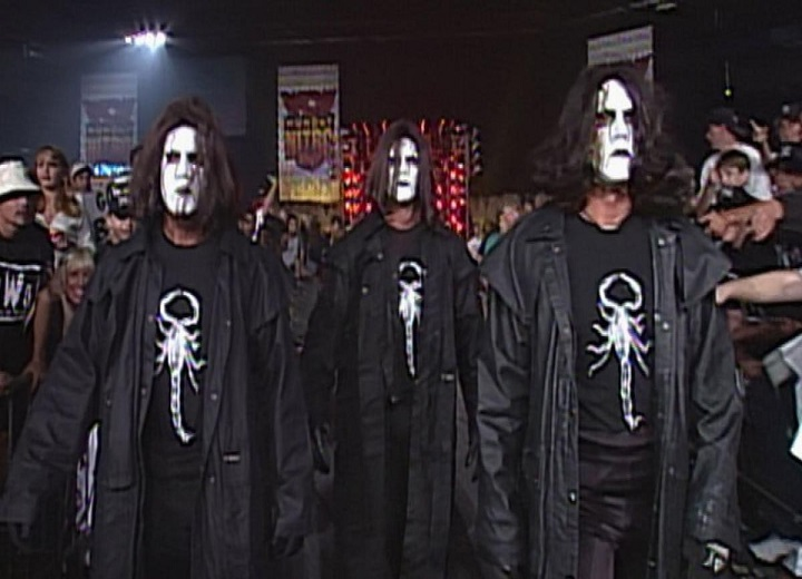 An Army of Stings comes to the ring to attack The nWo