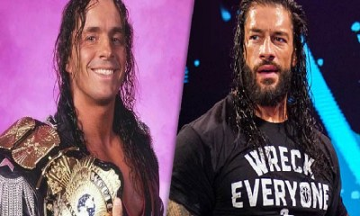 Roman Reigns and Bret Hart