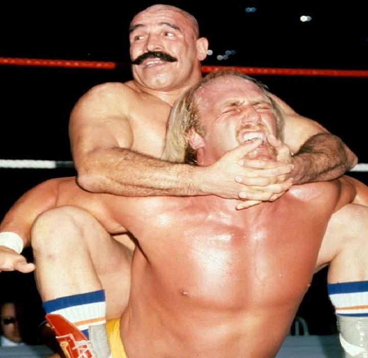 Iron Sheik and Hulk Hogan