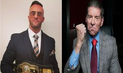 Nick Aldis and Vince McMahon