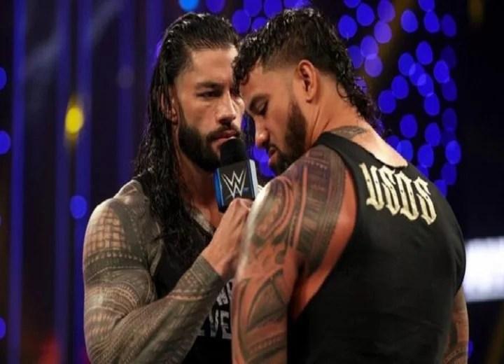 Roman reigns vs Jimmy Usos