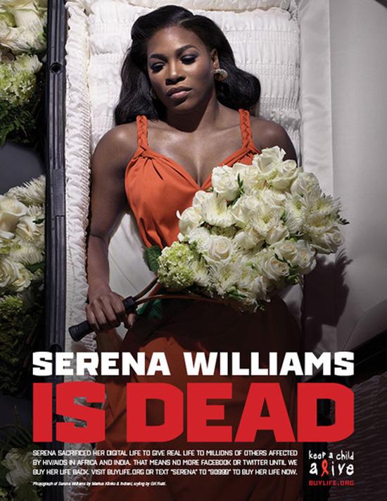 serena williams is dead