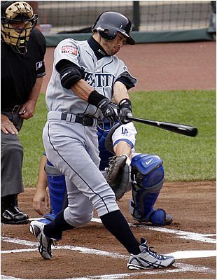 Does Seattle's Ichiro Suzuki Wear Wresting Shoes?