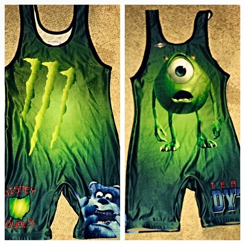 My favorite wrestling singlet Disney Monsters Inc.