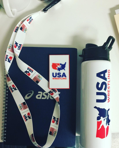 Thank you @usawrestling for sweet water bottle, lanyard and usb...
