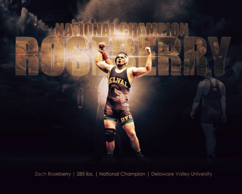 Zach Roseberry, 285 lbs NCAA Champion Photo & artwork by...