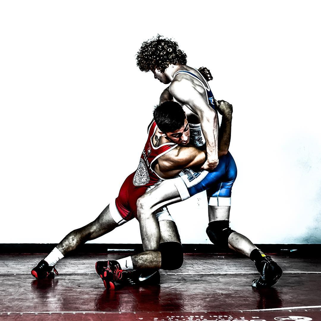 Wrestling Action Shot