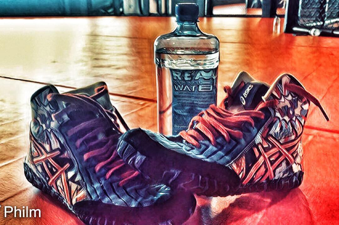 Wrestling Shoes & Water