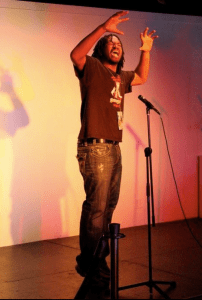 Brandon Williamson, founder of Pure Ink Poetry Slam of Buffalo. Williamson will appear in Jamestown at the Prendergast Library on March 19 at 6:30 p.m. as part of an open-to-the-public Poetry Slam.
