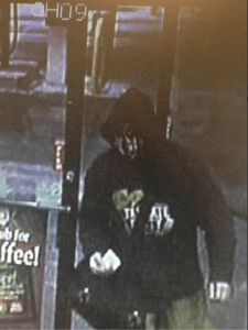 An image from a security camera at the Kwik Fill on Fluvanna Ave., that shows one of the suspects involved in Wednesday morning's CVS roberry in Jamestown's Brooklyn Square.