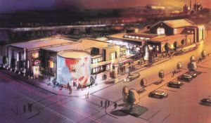 An artist's rendering of the proposed National Comedy Center in downtown Jamestown.