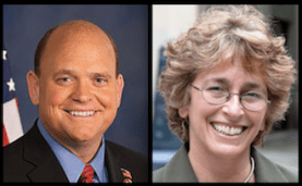 The 2014 candidates for 23rd Congressional District of New York: Congressman Tom Reed (R-Corning) and challenger Martha Robertson (D-Ithaca).