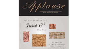 [LISTEN] TRC 'Applause' Art Exhibit Now Open at Dykeman-Young Gallery; Public Reception is June 6