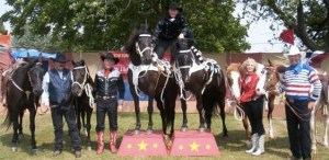 Tom Bishop and the 4B Ranch will be in Jamestown on Saturday morning, July 26 performing a Wild West Show.
