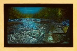 Alberto Rey (b. 1960) Biological Regionalism: Risley Falls, Fredonia, New York (oils on plaster, 32 by 47 inches). Courtesy of the artist.