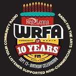 WRFA 10th Anniversary Celebration is Saturday Sept. 13, Featuring 10,000 Maniacs, Rollings Hills Radio and More!