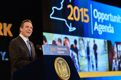 Governor Andrew Cuomo delivers his 2015 Opportunity Agenda - a combination of the State of the State and the Executive Budget presentation, on Wednesday, Jan. 21, 2015. (photo source: www.flickr.com/photos/governorandrewcuomo)