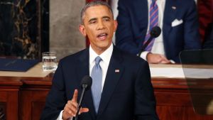 President Barack Obama delivering the 2015 State of the Union to Congress Tuesday, Jan. 20. (Photo from abcnews.com)