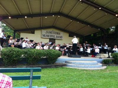 Jamestown Municipal Band (image courtesy C. Servis via Facebook)